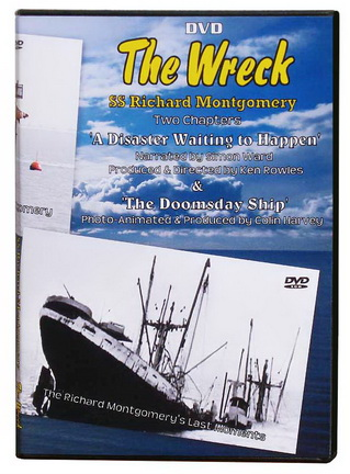 The SS Richard Montgomery story is told in this two chapter historic DVD. Featuring recent underwater images of the stricken vessle together with official and public reaction.